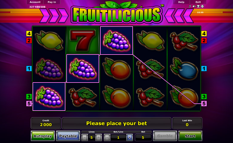 Fruitilicious online slot machine