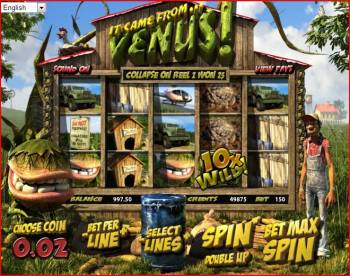 3D Slots Screenshot - It Came from Venus