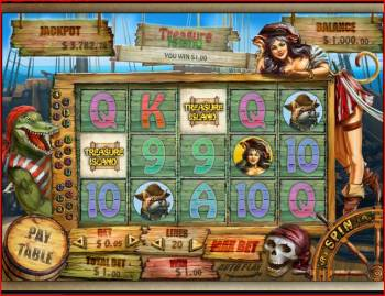 Treasure Island - An RTG Slot Machine Screenshot